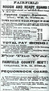 recruting ad for FRench's company of the 17th Connecticut Volunteers