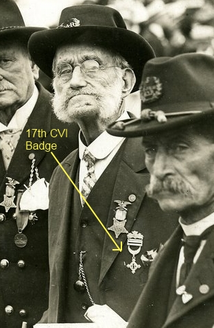 Vet wearing 17th Connecticut badge