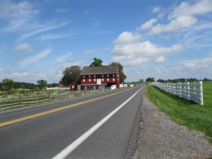 Approach to Sherfy and Klingle farms