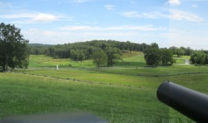 View from artillery position on East Cemetery Hill