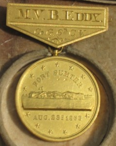 The front of a Gilmore Medal awarded to a soldier of the 6th CVI.