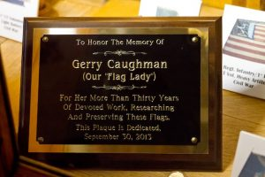 A plaque honoring Gerry Caughman